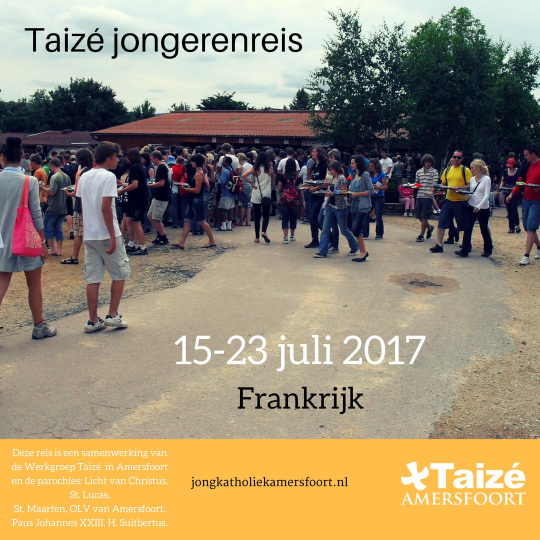 Taizé jongerenreis van 15-23 juli 2017 voor jongeren van 15-30 jaar