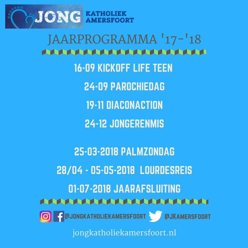 Activiteiten voor jongeren van 12-25 jaar in het seizoen 2017-2018 in Rk parochie OLV van Amersfoort