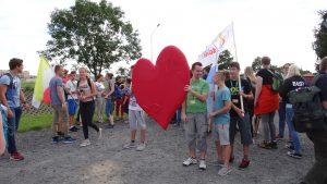 In Prudnik werden de WJD pelgrims met open hart ontvangen