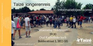 Informatiebijeenkomst over de jongerenreis naar Taizé