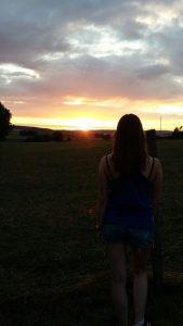 's Avonds kun je hier genieten van de zonsondergang