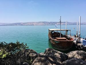 Uitzicht op het meer van Galilea