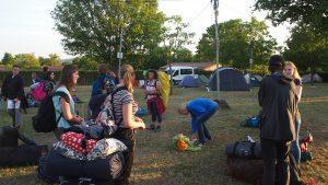 Na het welkom konden we onze tenten gaan opzetten.