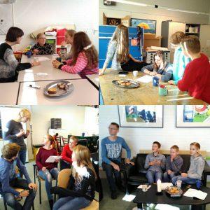 Eens in de 6 weken komen de tieners van het Brandhoutcafé bij elkaar in de kerk Het Brandpunt