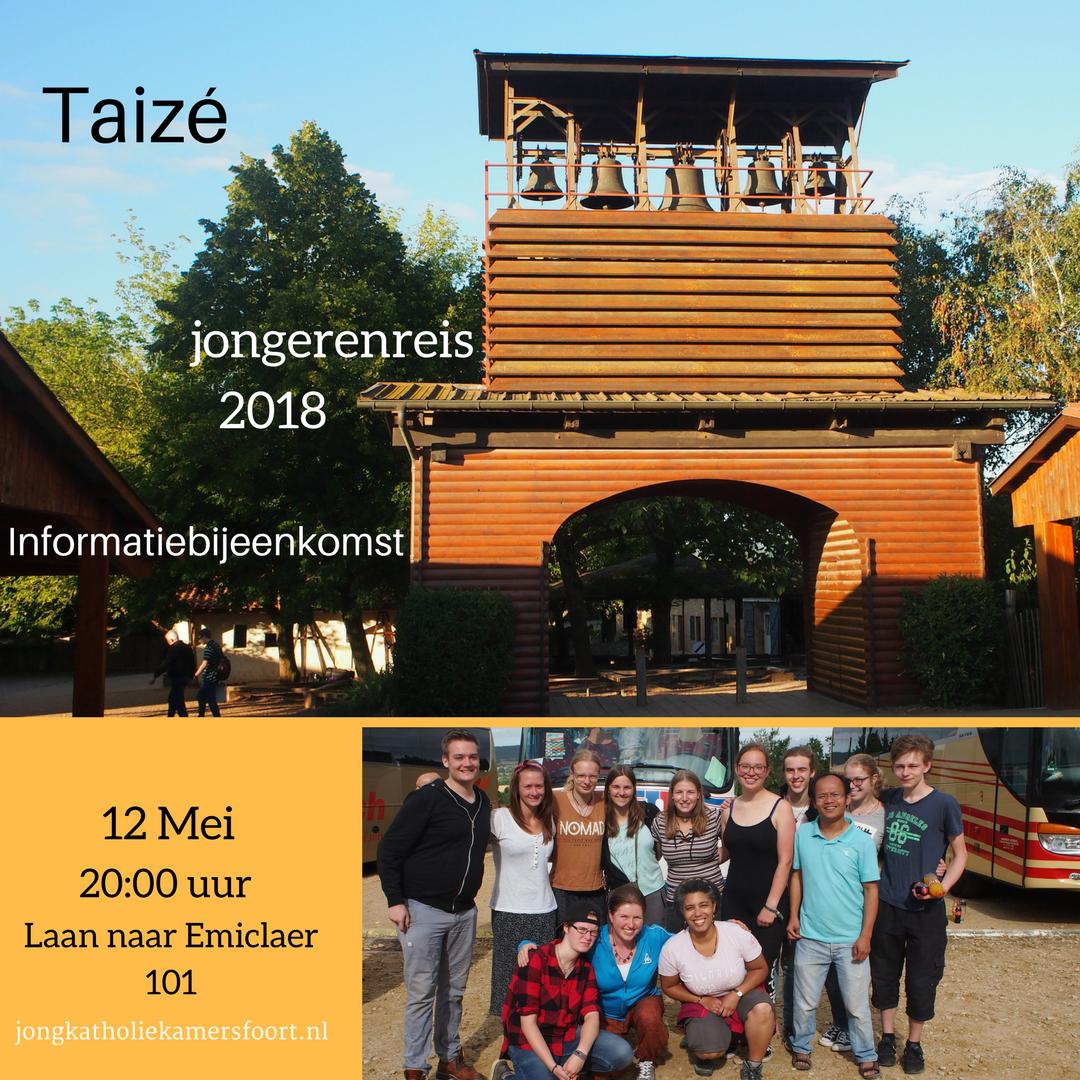 Op 12 mei is er een informatie avond over de jongerenreis naar Taizé die van 14-22 juli 2018 gaat plaatsvinden