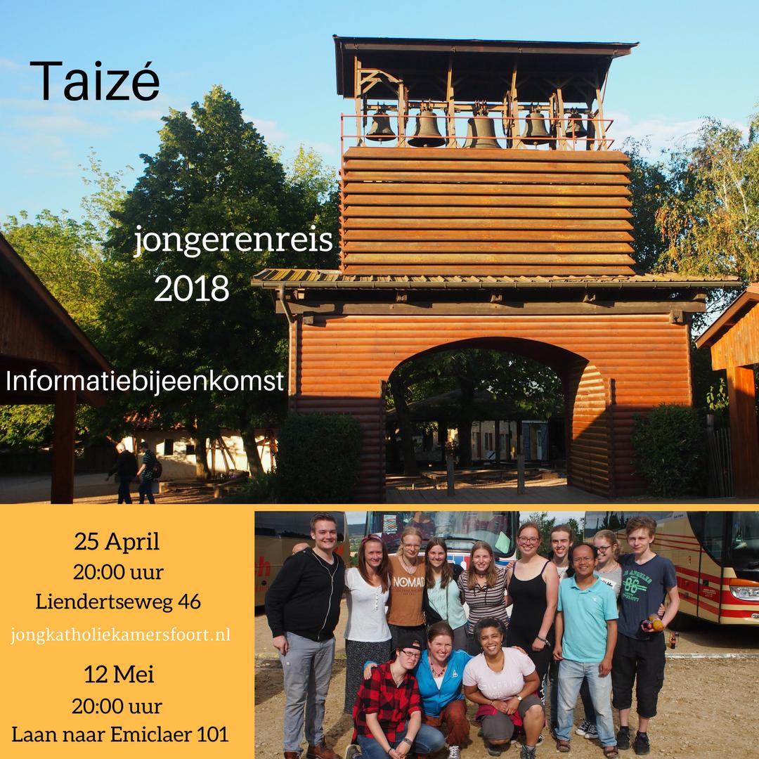 Voor jongeren tussen 15-30 jaar zijn er 2 informatiebijeenkomsten over de reis naar Taizé van 14-22 juli 2018
