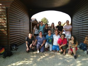 De groep van de jongerenreis van 2018 in Taizé