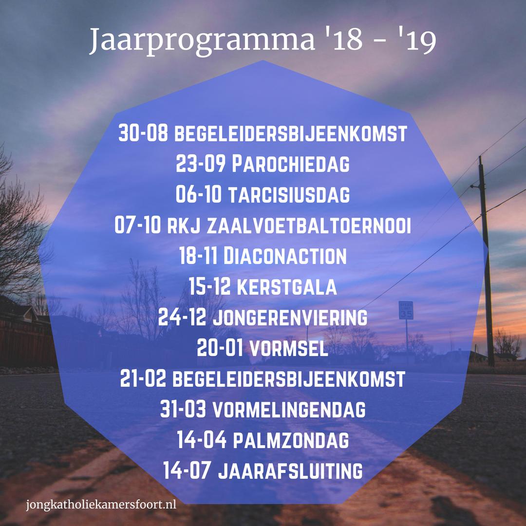 Jaarprogramma 2018-2019