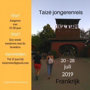 Taizé jongerenreis voor jongeren van 15-30 jaar