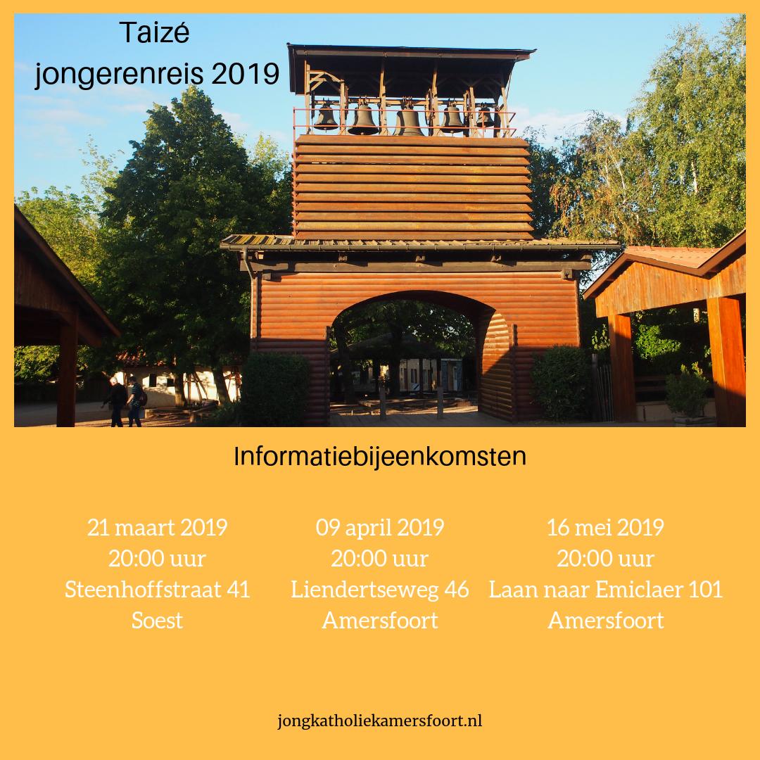 Uitnodiging voor de informatiebijeenkomst over de Taizé jongerenreis 2019